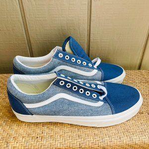 Vans x J Crew Old Skool Chambray Canvas Sneakers
